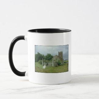 Medieval church and churchyard mug