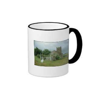 Medieval church and churchyard mugs
