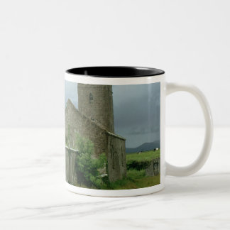 Medieval church and churchyard mug