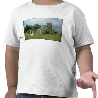 Medieval church and churchyard t-shirts