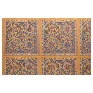 Medieval circles fabric