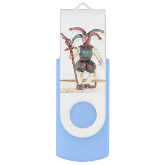 Medieval Court Jester USB Swivel Flash Drive