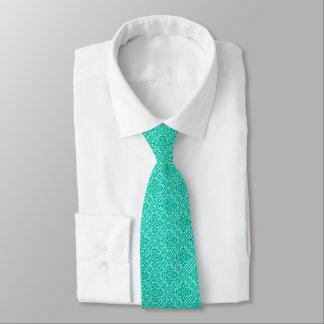Medieval Damask Fleur-de-lis, turquoise & aqua Tie