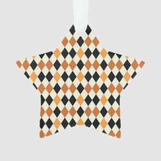 Medieval Diamond Harlequin Gold Black White Design