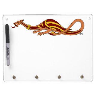 Medieval Dragon Design 2015 Dry Erase Board With Key Ring Holder