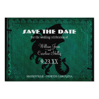 Medieval Dragon Sword Vintage Save the Date Card