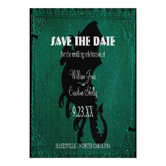 Medieval Dragon Sword Vintage Save the Date Magnetic Invitations