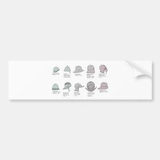 Medieval European helmet Bumper Sticker