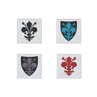 Medieval Fleur de lis symbols Stone Magnet
