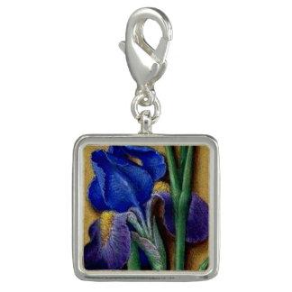 Medieval Flora Square Iris flower charm