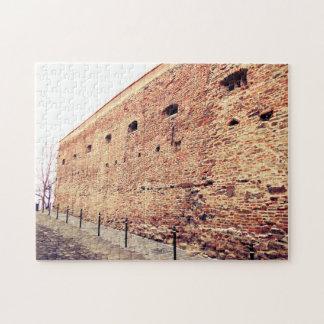Medieval Fortress Brick Wall Jigsaw Puzzle