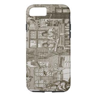 Medieval German printing press (engraving) iPhone 8/7 Case