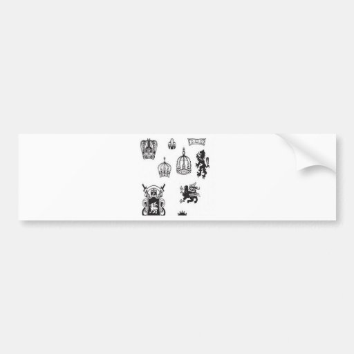 Medieval graphics design bumper stickers