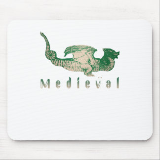 Medieval Green Dragon Mouse Pad