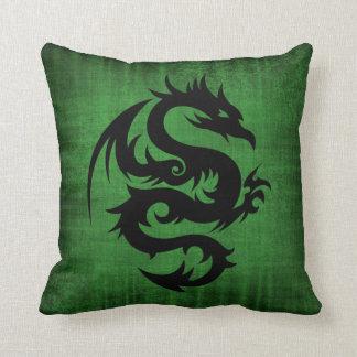 Medieval Green Velvet Cushion Throw Pillow