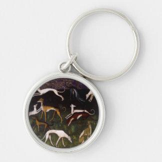 Medieval Greyhounds Fine Art Keychains