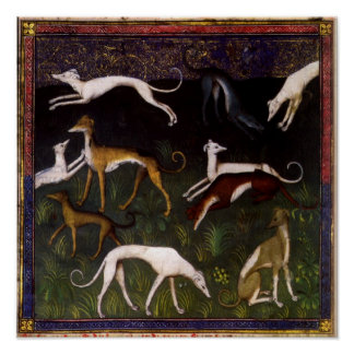 Medieval Greyhounds Fine Art Posters