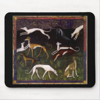 Medieval Greyhounds in the Deep Forest Mouse Pad