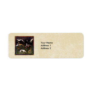 Medieval Greyhounds in the Deep Woods Custom Return Address Label