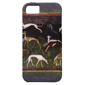 Medieval Greyhounds in the Deep Woods iPhone 5 Cases