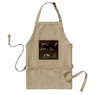Medieval Greyhounds in the Deep Woods Standard Apron