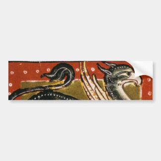 Medieval Griffin Bumper Sticker