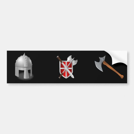 Medieval Helm Bumper Stickers