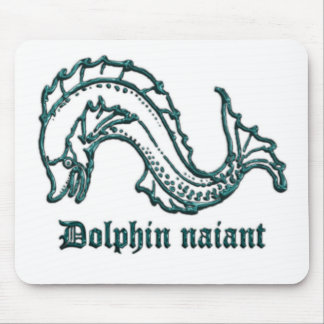 Medieval Heraldry Dolphin naiant Mouse Mat
