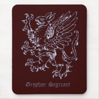 Medieval heraldry Gryphon segreant Mousepads