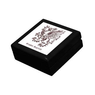 Medieval heraldry - Gryphon segreant white Gift Box