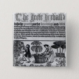 Medieval Herb Garden 15 Cm Square Badge