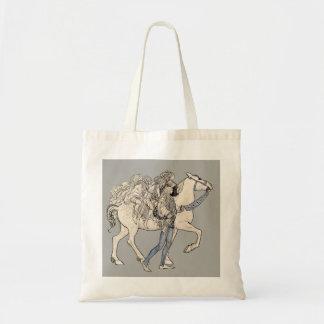 MEDIEVAL HORSE TOTE BAG
