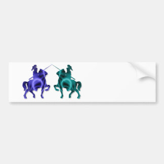 Medieval Horses Bumper Sticker Car Bumper Sticker