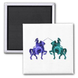 Medieval Horses Magnet