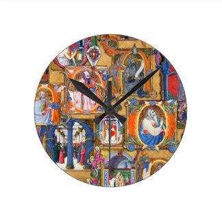 Medieval Illuminations Wall Clock