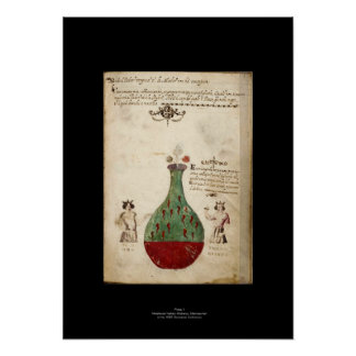 Medieval Italian Alchemy Poster Plate 1