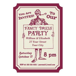Medieval Jester Fancy Dress Party Personalized 13 Cm X 18 Cm Invitation Card