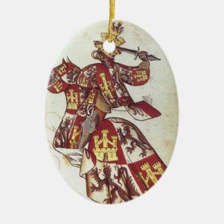 Medieval King if Castile Ornament