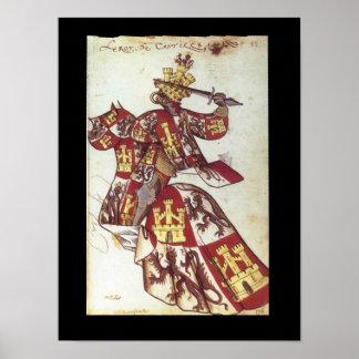 Medieval King of Castile Poster
