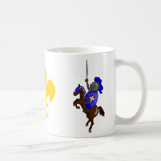 Medieval Knight and Fleur-de-Lis Mug