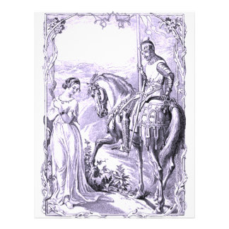 Medieval Knight and Lady 21.5 Cm X 28 Cm Flyer
