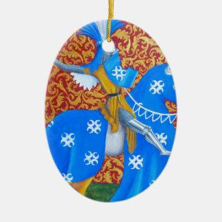 Medieval Knight Ceramic Oval Decoration