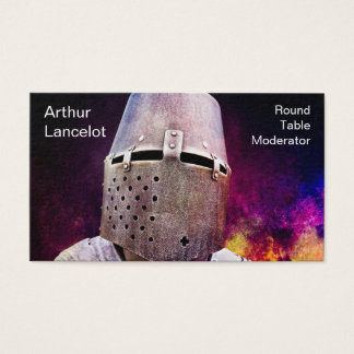 Medieval Knight Funny Customizable Business Card