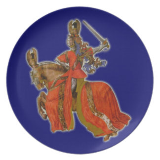 Medieval knight plate