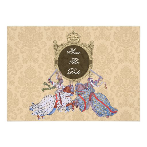 Medieval Knight Save The Date Cards