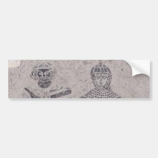 Medieval Knights Graffiti Bumper Stickers