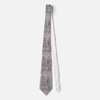 Medieval Knights Graffiti Tie