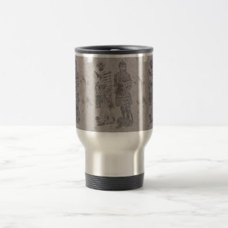 Medieval Knights Graffiti Travel Mug