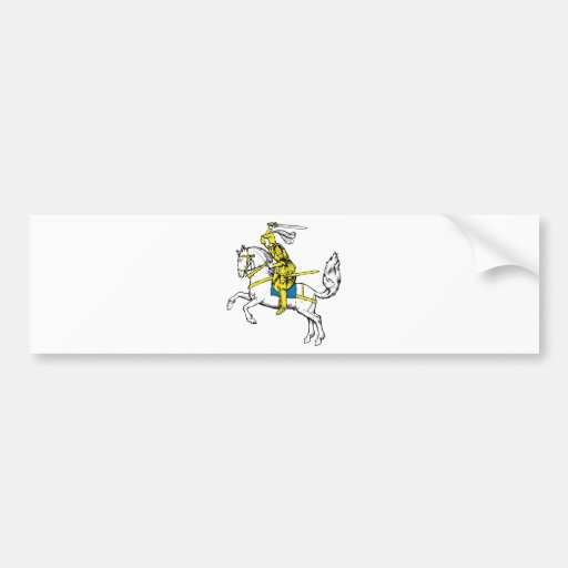 Medieval Knights Horses Lions Castle Party Destiny Bumper Stickers