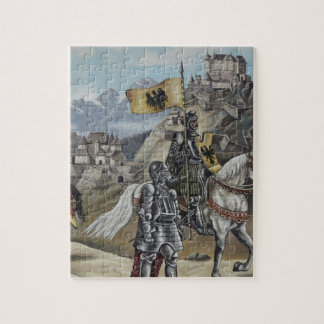 Medieval Knights Horses Lions Castle Party Destiny Jigsaw Puzzle